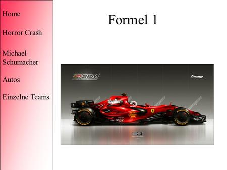 Formel 1 Home Horror Crash Michael Schumacher Autos Einzelne Teams.