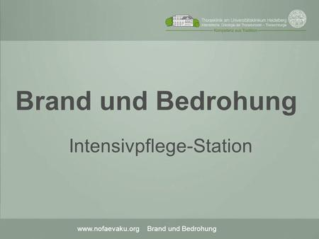 Intensivpflege-Station