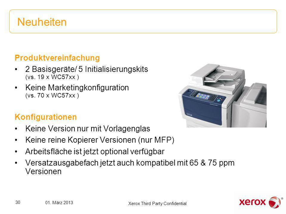Überblick Konfigurationen 5801V_F WorkCentre 5845/5855: Copy, Print, Scan, One- Pass DADF, 5 Trays Total 4,700 sheets, Adobe PS3, PCL6 5845 Speed Kit 5855 Speed Kit WorkCentre 5845 mit 4.700 Blatt Papierkapazität WorkCentre 5855 mit 4.700 Blatt Papierkapazität 5802V_F WorkCentre 5865/5875/5890: Copy, Print, Scan, One-Pass DADF, 5 Trays Total 4.700 sheets, Adobe PS3, PCL6 5865 Speed Kit 5875 Speed Kit 5890 Speed Kit WorkCentre 5865 mit 4.700 Blatt Papierkapazität WorkCentre 5875 mit 4.700 Blatt Papierkapazität WorkCentre 5890 mit 4.700 Papierkapazität IOT + Speed Kit + Versatzausgabefach (bis 75ppm) oder Finisher = gewünschtes WorkCentre 58xx Modell 31 01.