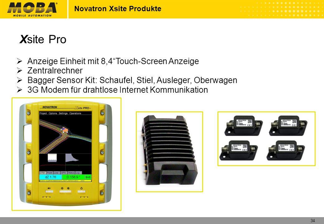 35 Novatron Xsite Produkte Xsite Pro Optionen 1.3D Vorbereitung 2.3D Komponenten und Software 3.Funkmodem 12 3