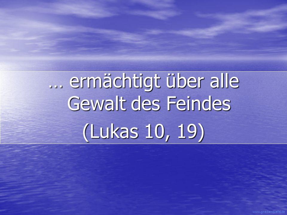 www.gnadenquelle.de … einer, der sich nicht der Welt gleichstellt (Römer 12, 2)