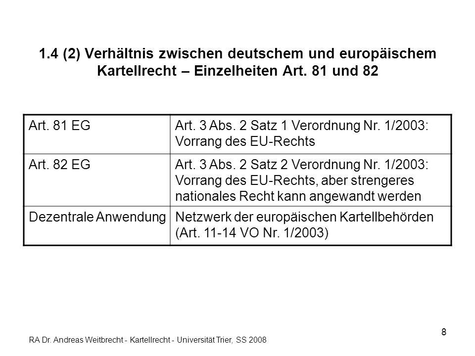 9 1.5 Verfahren und Sanktionen DeutschlandEUSanktionen Verwaltungsverfahren-- § 54-80 GWB -- VwVfG -- VO Nr.