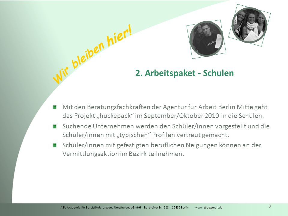 ABU Akademie für Berufsförderung und Umschulung gGmbH Beilsteiner Str.