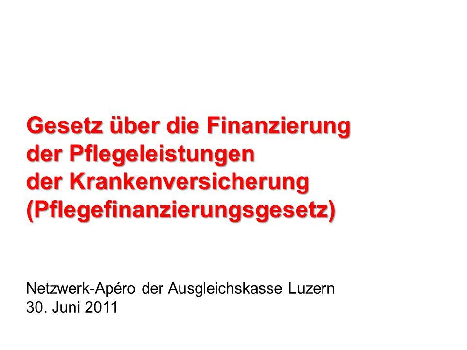 Was bezweckt der Bund mit der Neuordnung der Pflegefinanzierung.