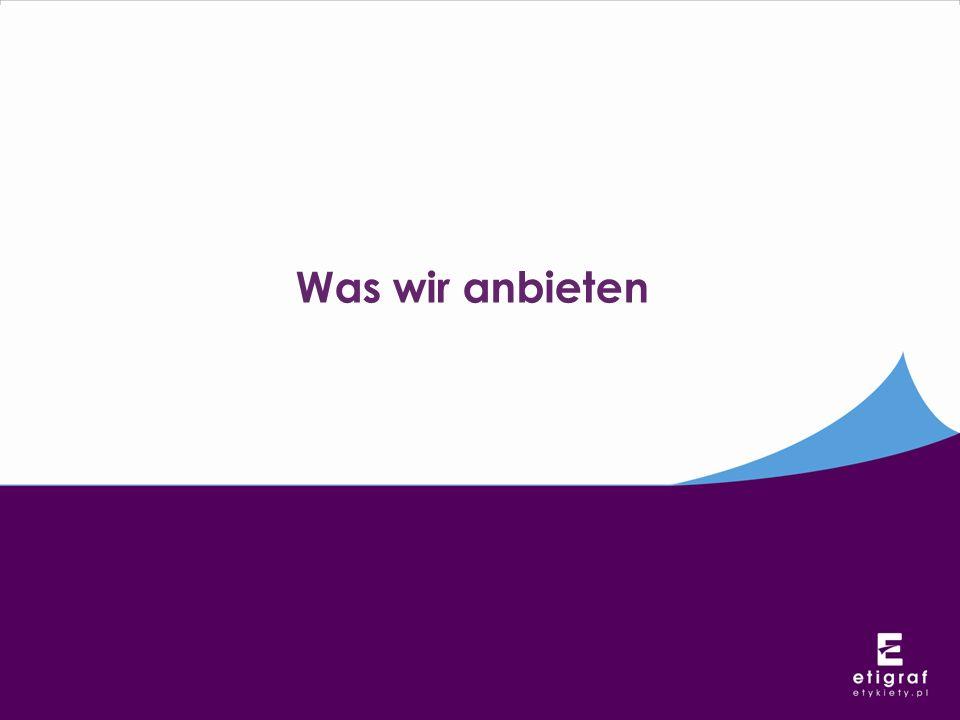System Etykiety.pl Etigraf Wir bieten den Kunden ein komplexes Unterstützungssystem im Bereich der Schaffung und Herstellung von Etiketten.