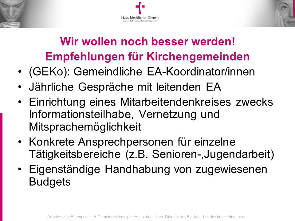 Arbeitsstelle Ehrenamt und Gemeindeleitung im Haus kirchlicher Dienste der Ev.-luth.