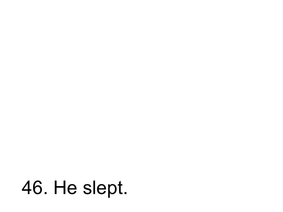 46. Er schlief. Er hat geschlafen.