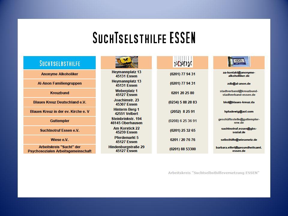 Arbeitskreis Suchthilfevernetzung ESSEN erstellt von: Herbert Witt hero.witt@t-online.de