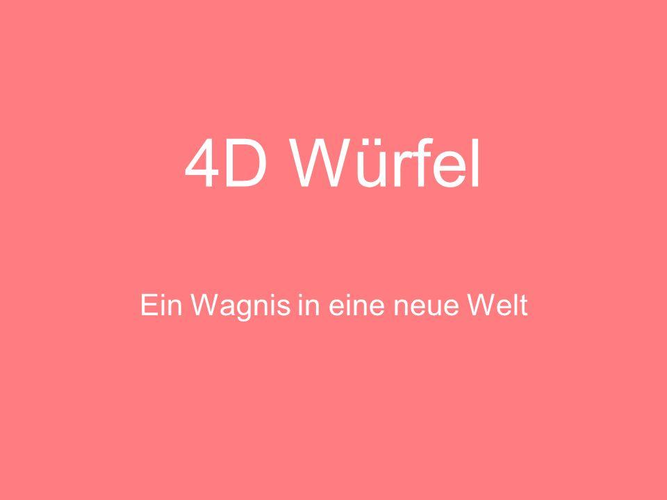 4D Würfel Darstellungsmöglichkeiten