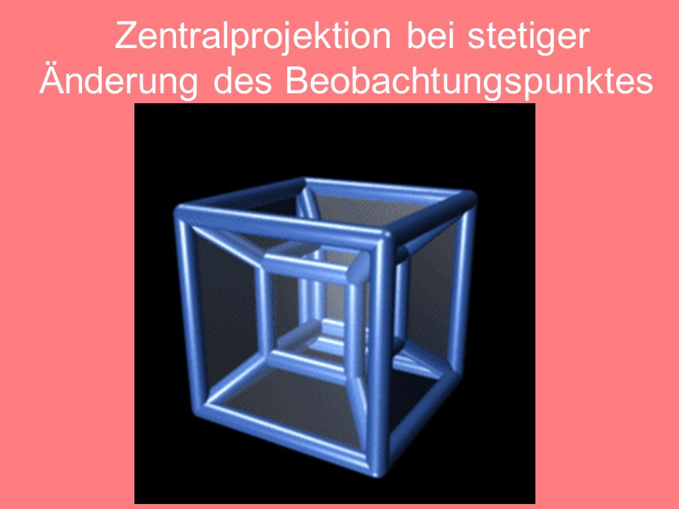 4D Würfel In der isometrischen Darstellung