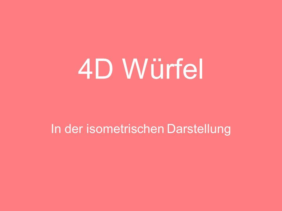 Isometrische Darstellung des 3D-Würfels Bei einer isometrischen Darstellung werden die drei Koordinatenrichtungen gleichmäßig verkürzt.