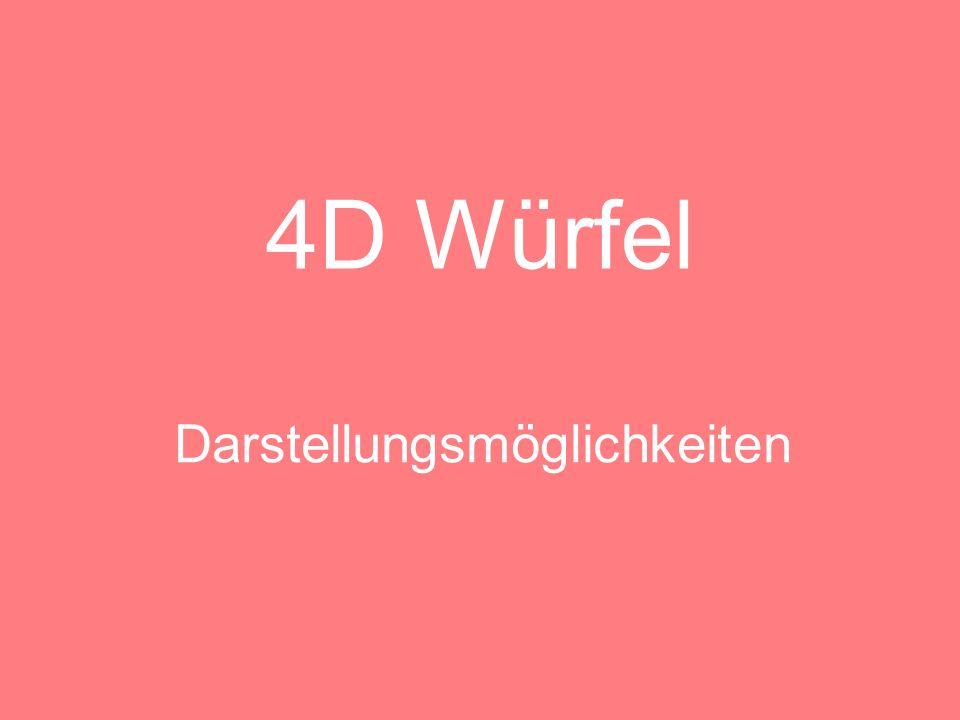 4D Würfel Im Schrägriss