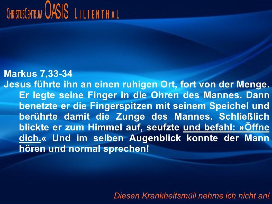 Apostelgeschichte 9,33-34 Dort fand er einen Mann mit Namen Äneas, der seit acht Jahren gelähmt im Bett lag.