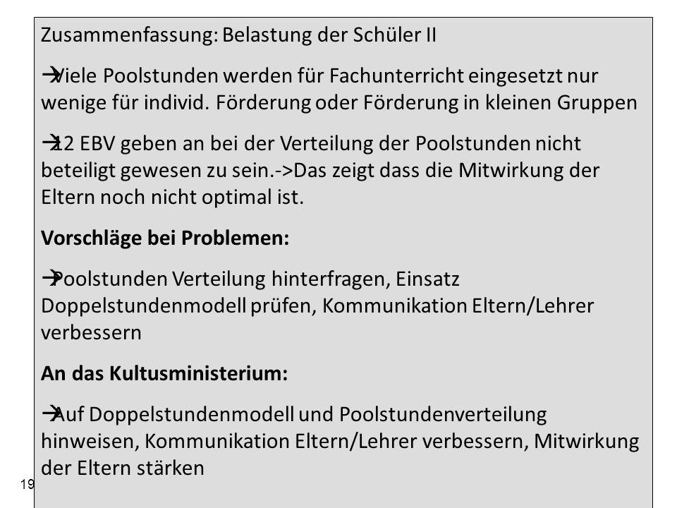 19.05.2014 Arbeitskreis der Elternbeiratsvorsitzenden der Gymnasien im Regierungsbezirk Tübingen 26 Zusammenfassung Nichtteilnahme an Hausaufgabenbetreuung wirft Fragen auf Es gibt zwar fast überall Essensangebote, diese werden aber nur von 10 –30 % wahrgenommen.