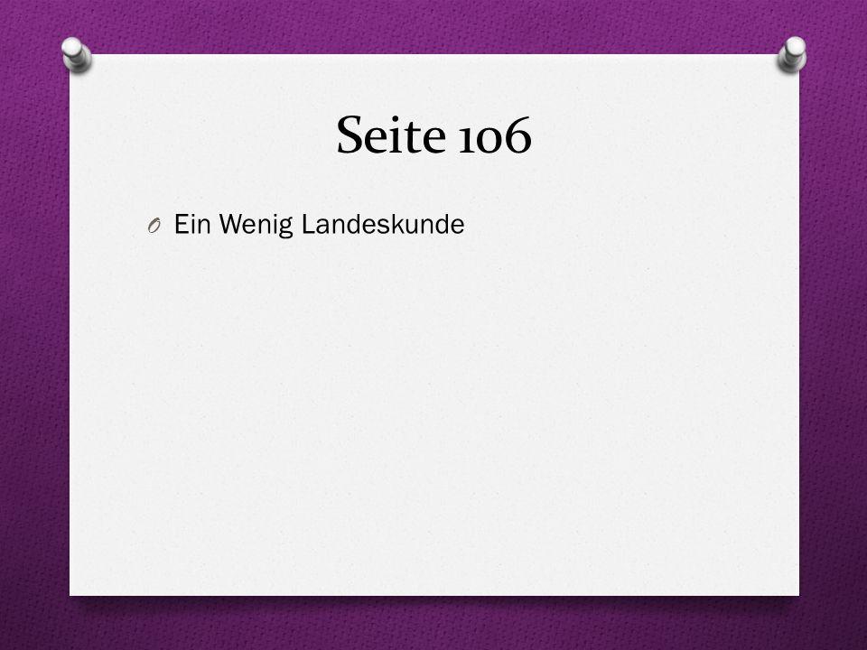 Talking about class schedules Seite 106 O Welche Fächer hast du.