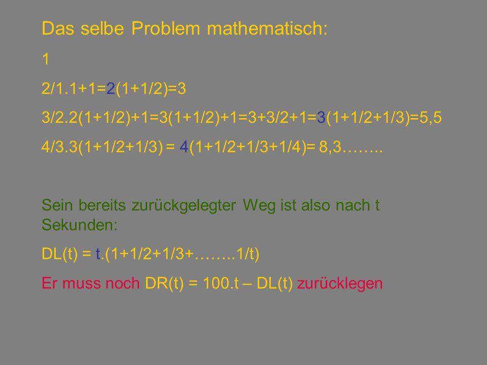 DL(t) = t.(1+1/2+1/3+……..1/t) DR(t) = 100.t – DL(t)