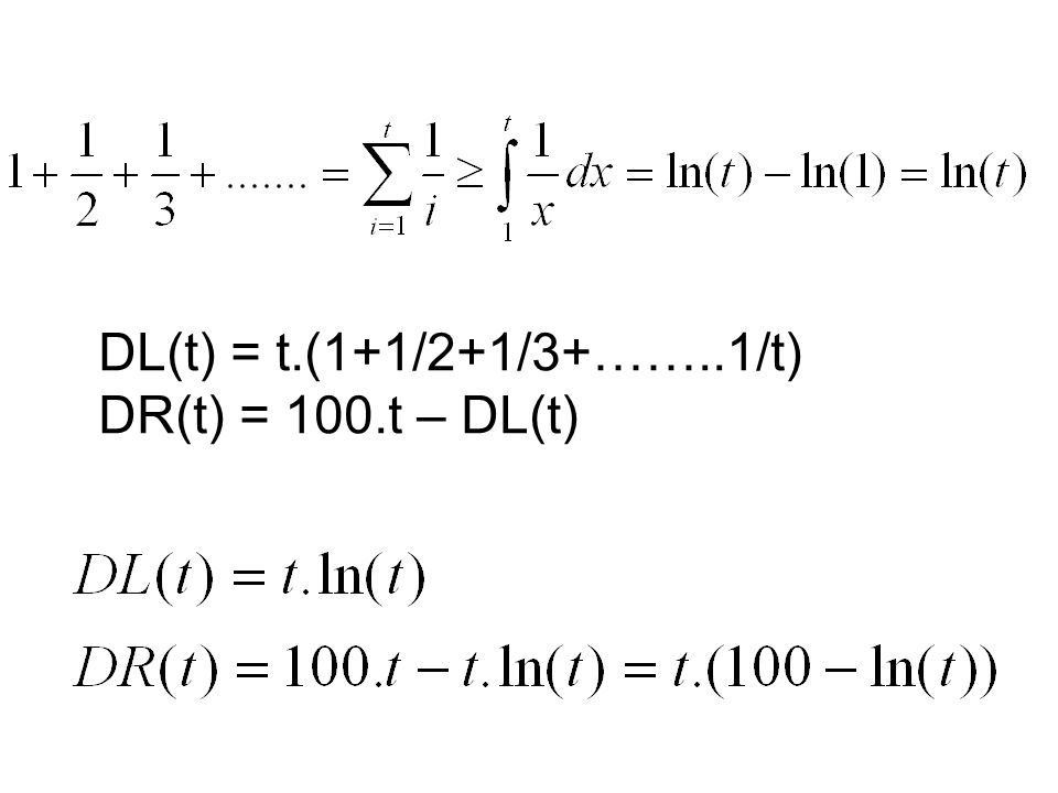 Unter welcher Bedingung ist DR(t) = t.(100 – ln(t)) = 0 Genau dann, wenn 100 = ln(t) e 100 = t 1,5.10 45 Sekunden = t