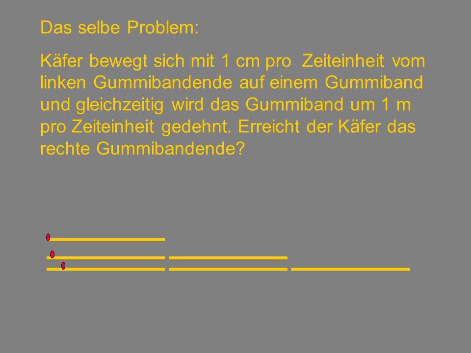 Das selbe Problem: Linke SeiteRechte Seite 1 cm 100 – 1 = 99 2 cm + 1cm=3cm 200 – 3 = 197