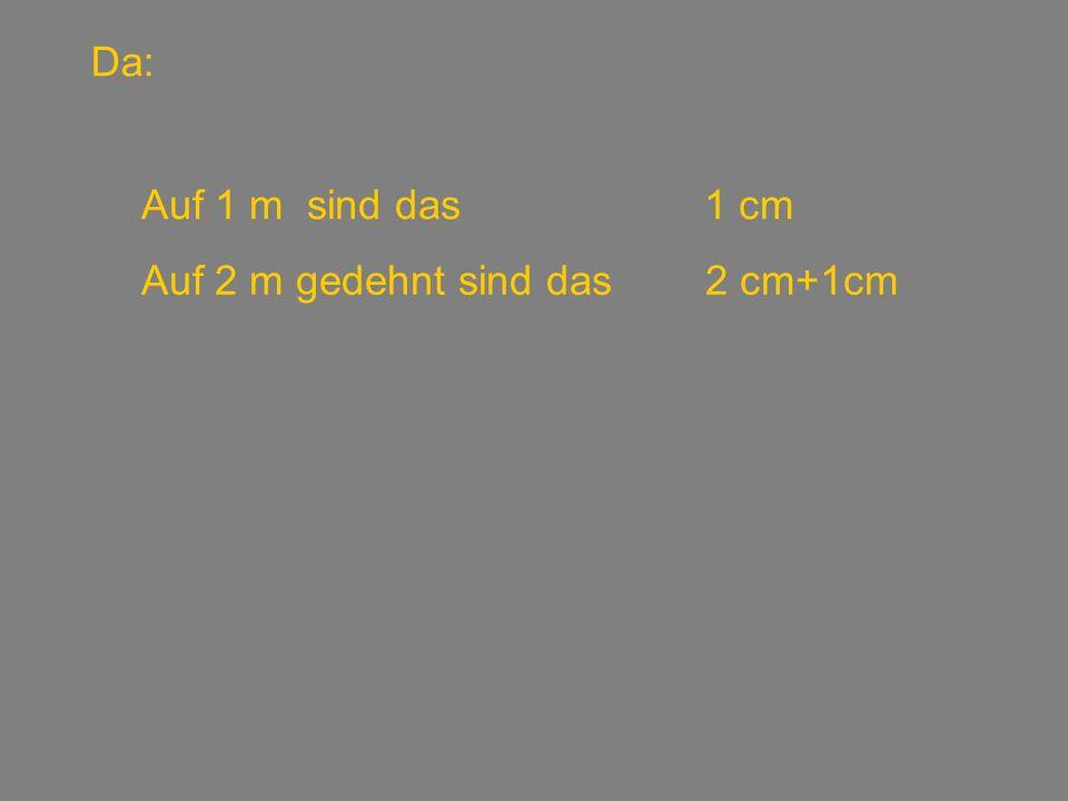 Das selbe Problem: Linke SeiteRechte Seite 1 cm100 – 1 = 99 3 cm200 – 3 = 197 5,5 cm300 – 5,5 = 294,5