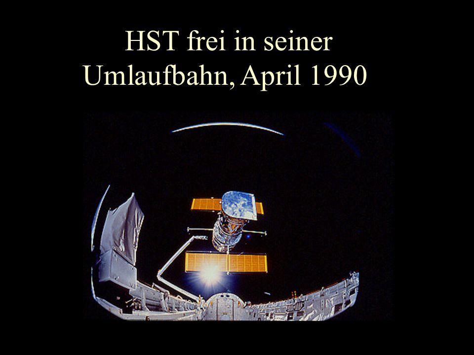 HST frei in seiner Umlaufbahn, April 1990