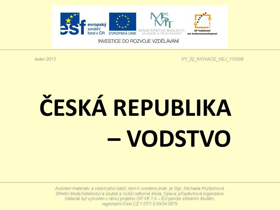 Wasserverkehr Die Tschechische Republik ist ein Binnenland.