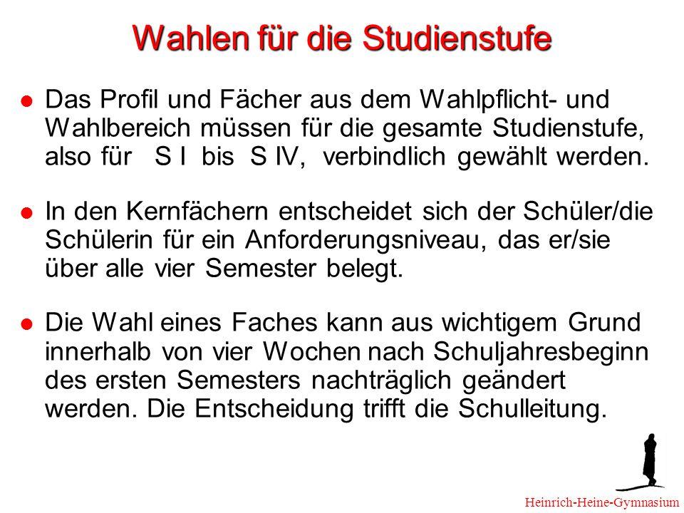 Abiturprüfung Vier Prüfungsfächer: Zwei Kernfächer, das profilgebende Fach und ein weiteres Fach.