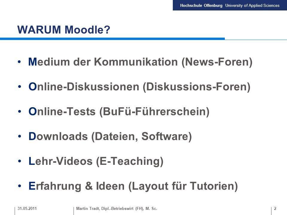 Hochschule Offenburg University of Applied Sciences 3Martin Tradt, Dipl.-Betriebswirt (FH), M.