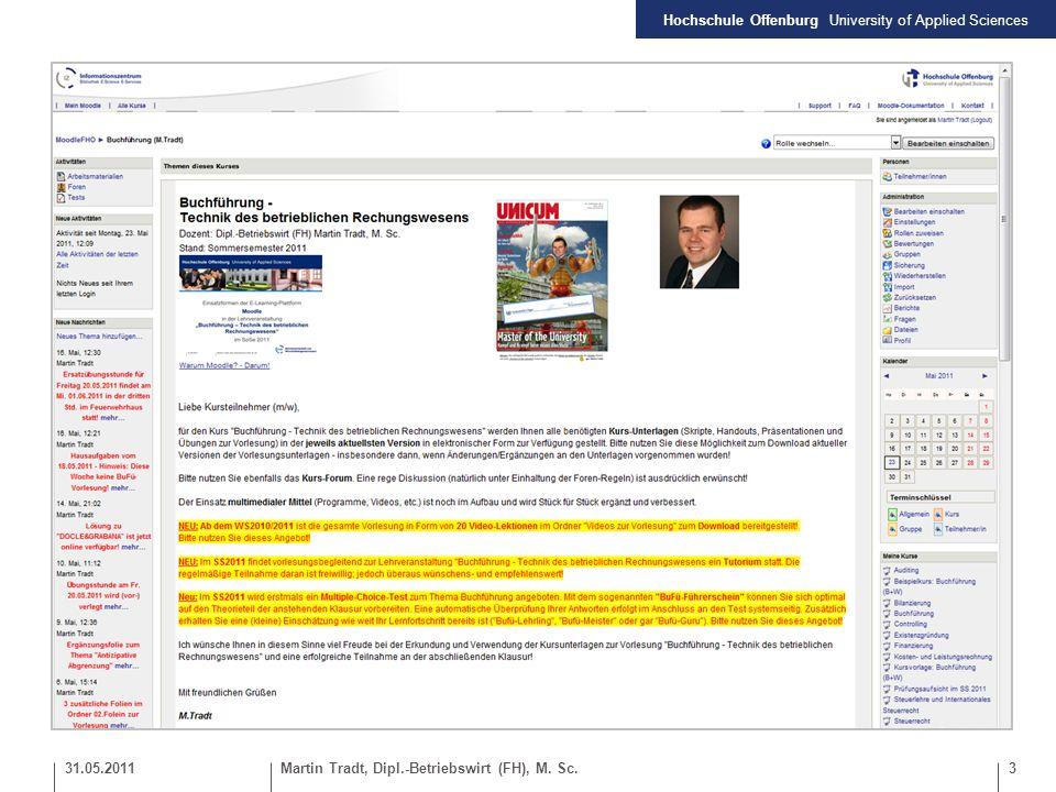 Hochschule Offenburg University of Applied Sciences 4Martin Tradt, Dipl.-Betriebswirt (FH), M.