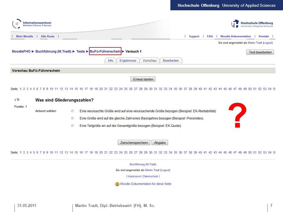 Hochschule Offenburg University of Applied Sciences 8Martin Tradt, Dipl.-Betriebswirt (FH), M.