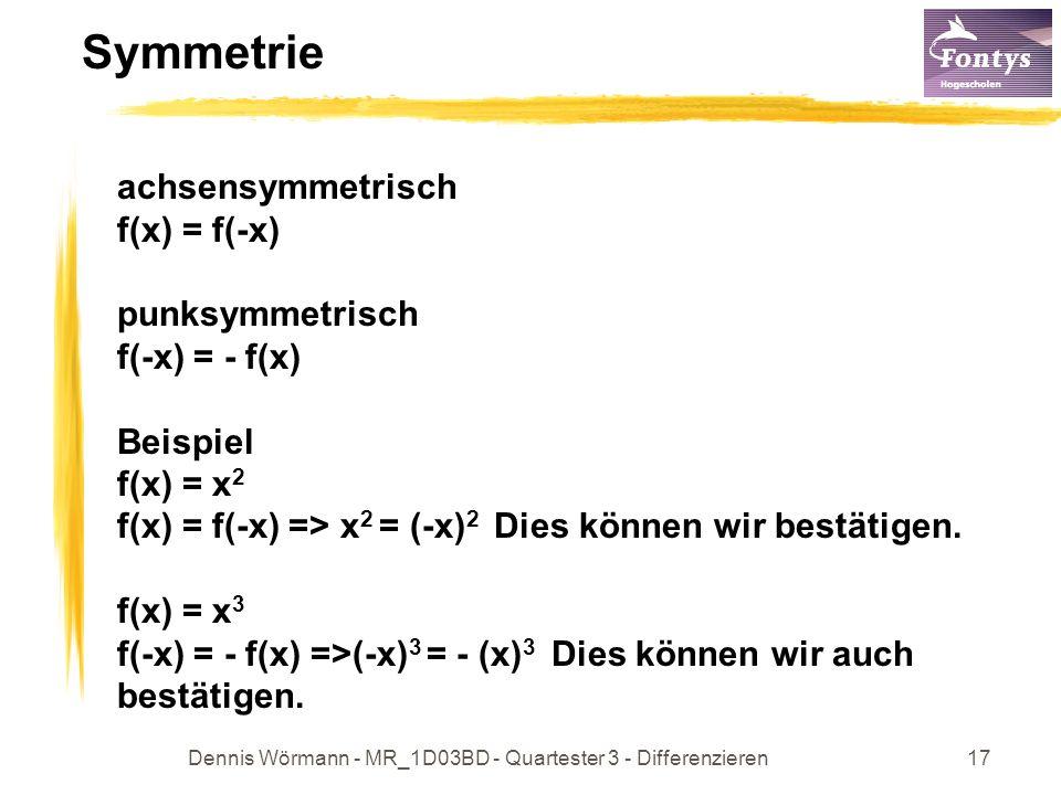 Dennis Wörmann - MR_1D03BD - Quartester 3 - Differenzieren18 Wichtige Funktionen !!.