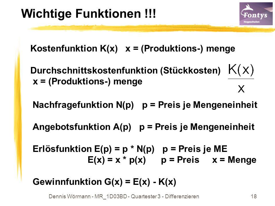 Dennis Wörmann - MR_1D03BD - Quartester 3 - Differenzieren19 Wichtige Funktionen !!.