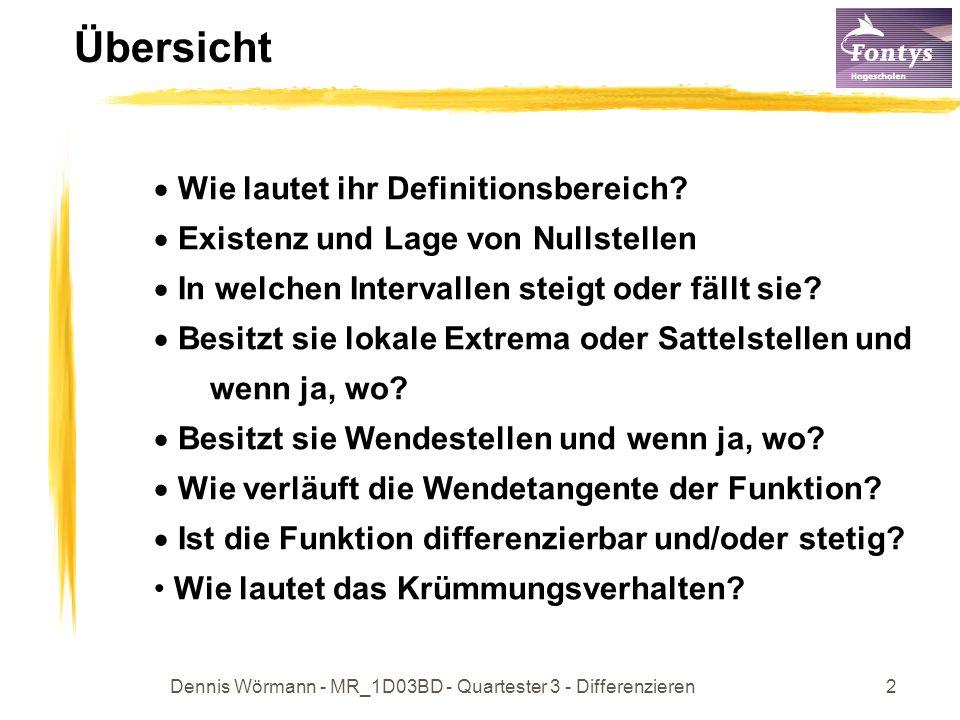 Dennis Wörmann - MR_1D03BD - Quartester 3 - Differenzieren3 Typ der Funktion Handelt es sich um einen bekannten Funktionstyp.