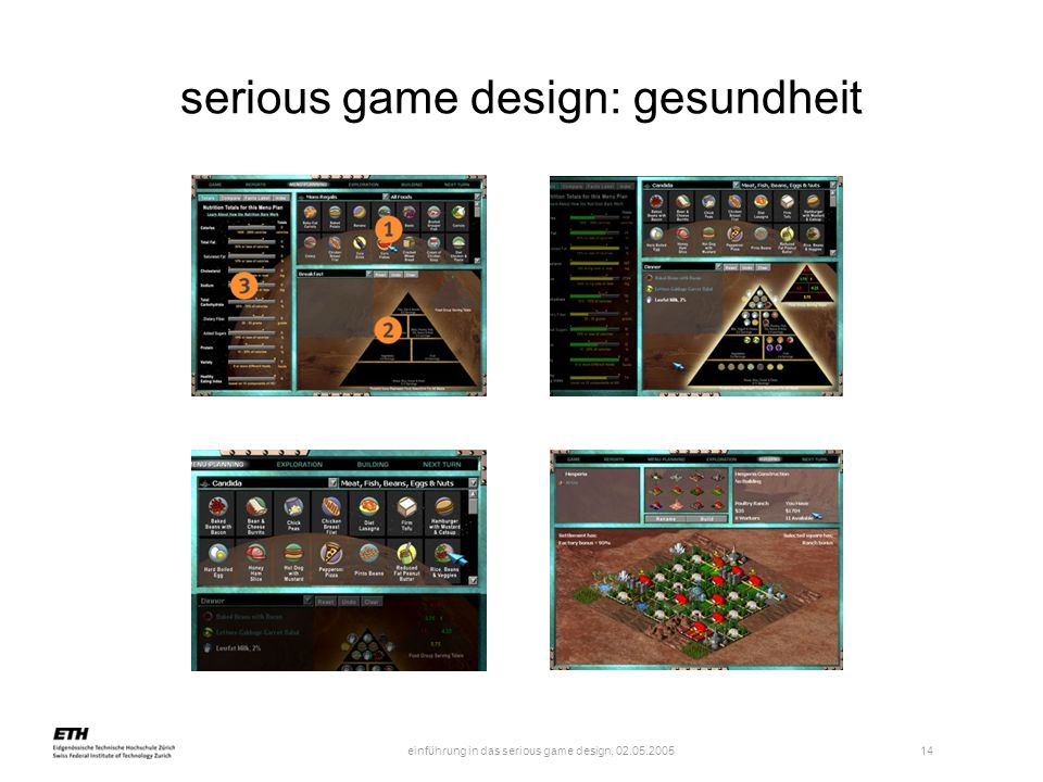 einführung in das serious game design, 02.05.2005 15 series of mini games using psychophysiological biofeedback (USB / director based by wellness company The Wild Divine Project) for remotely controlling computer integrated building services serious game design: gesundheit