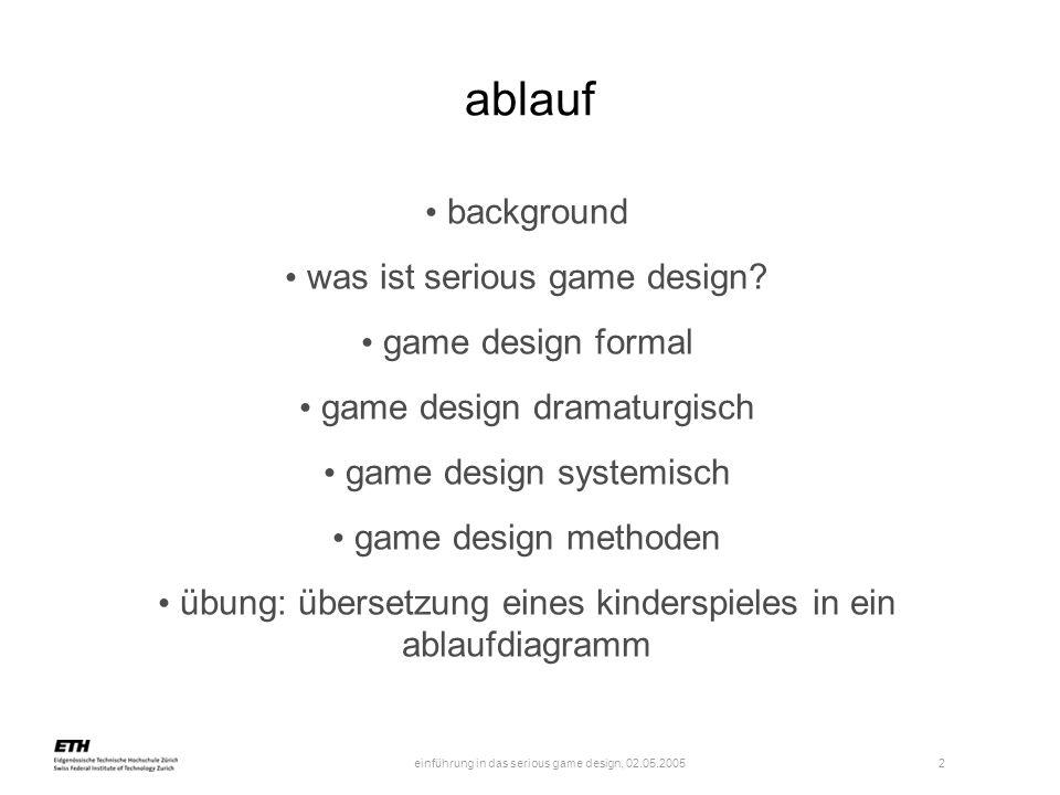 einführung in das serious game design, 02.05.2005 3 background spw