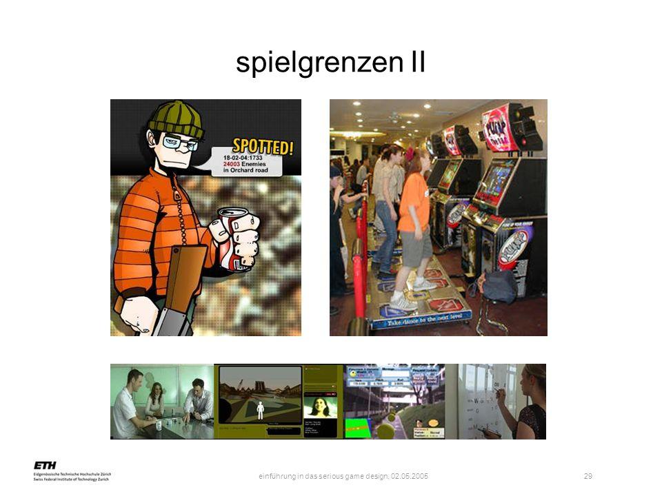 einführung in das serious game design, 02.05.2005 30 ergebnis z.b.