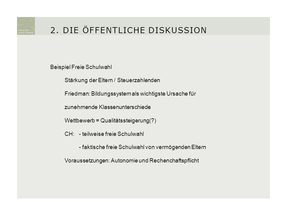 Freie Schulwahl ist in der Schweiz auf Jahre hinaus politisch chancenlos (obwohl 75% grundsätzliche Zustimmung).