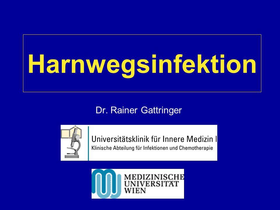 Harnwegsinfektion (HWI) Sehr häufige Infektion: - zweithäufigste Infektion weltweit - Hälfte aller Frauen weltweit haben im Laufe ihres Leben eine HWI - bei 30% rezidivieren diese Infektionen - häufigste nosokomiale Infektion - dritthäufigste Infektion auf Intensivstationen