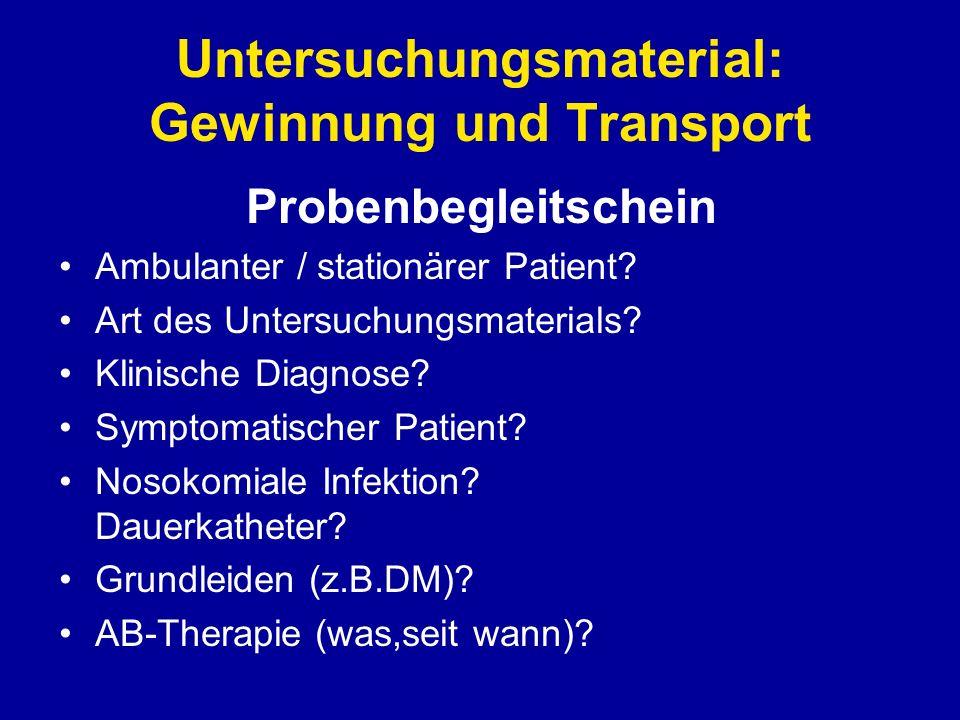 Häufige Erreger von Harnwegsinfektionen 1.