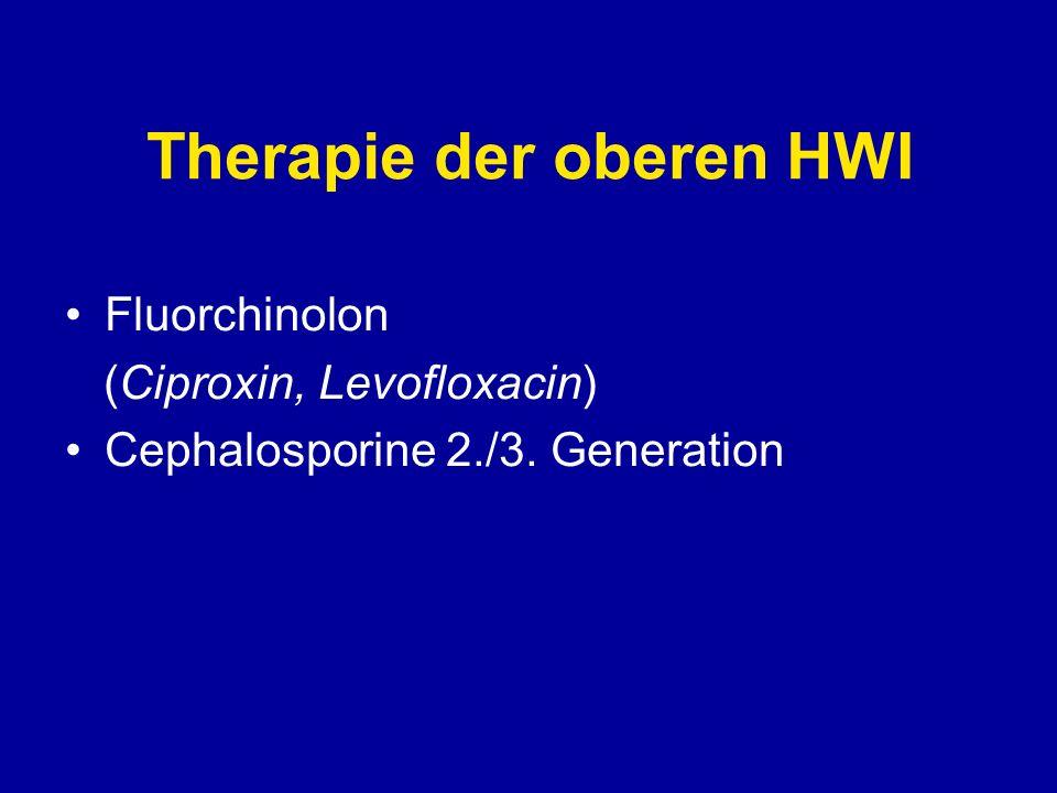 Therapie der komplizierten HWI Fluorchinolone Cephalosporine 3./4.
