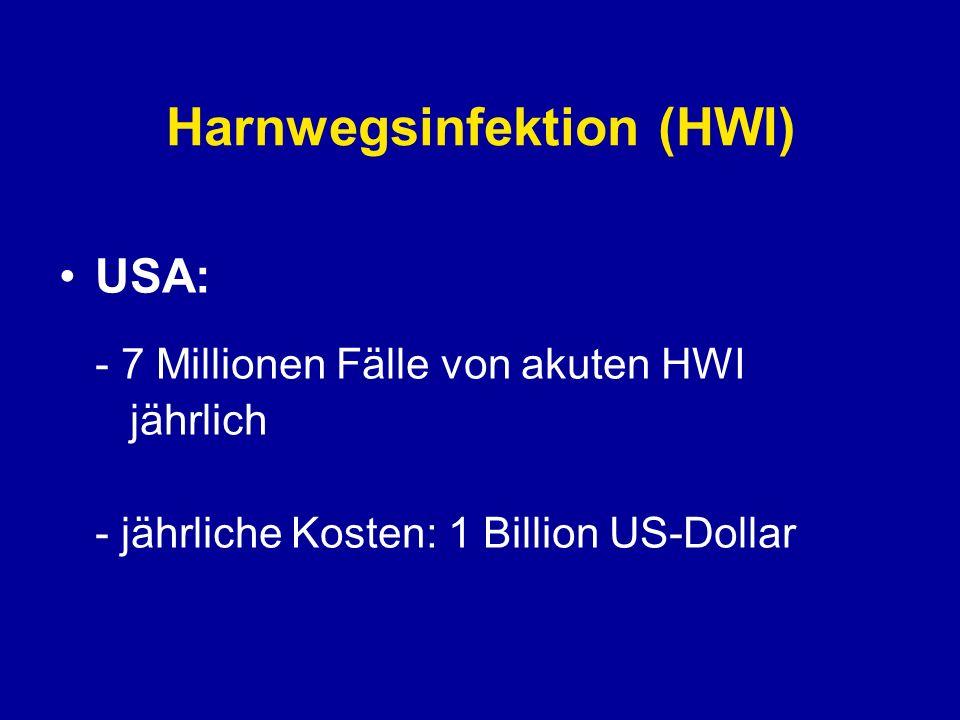 Harnwegsinfektion (HWI) Potentiell gefährliche Infektion: Urosepsis!!!!