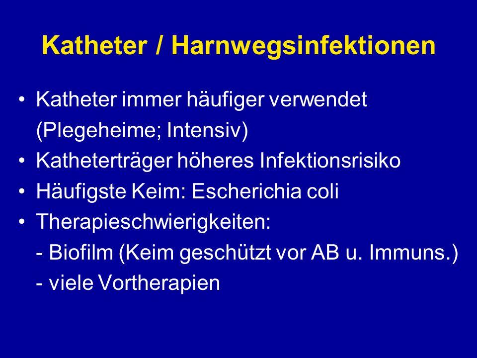 Katheter / Harnwegsinfektionen Asymptomatische Katheter/HWI Keine Therapie!.