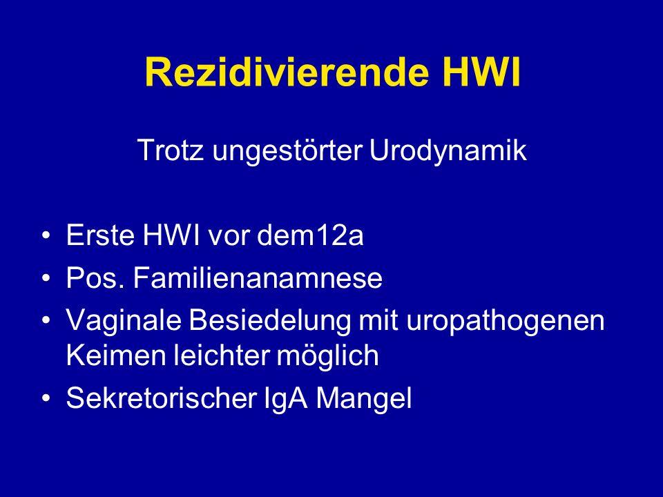 Rezidivierende HWI Rezidiv begünstigende Faktoren - Kontrazeptiva - spermizid beschichtete Kondome - häufiger Sexualverkehr (honeymoon cystitis)
