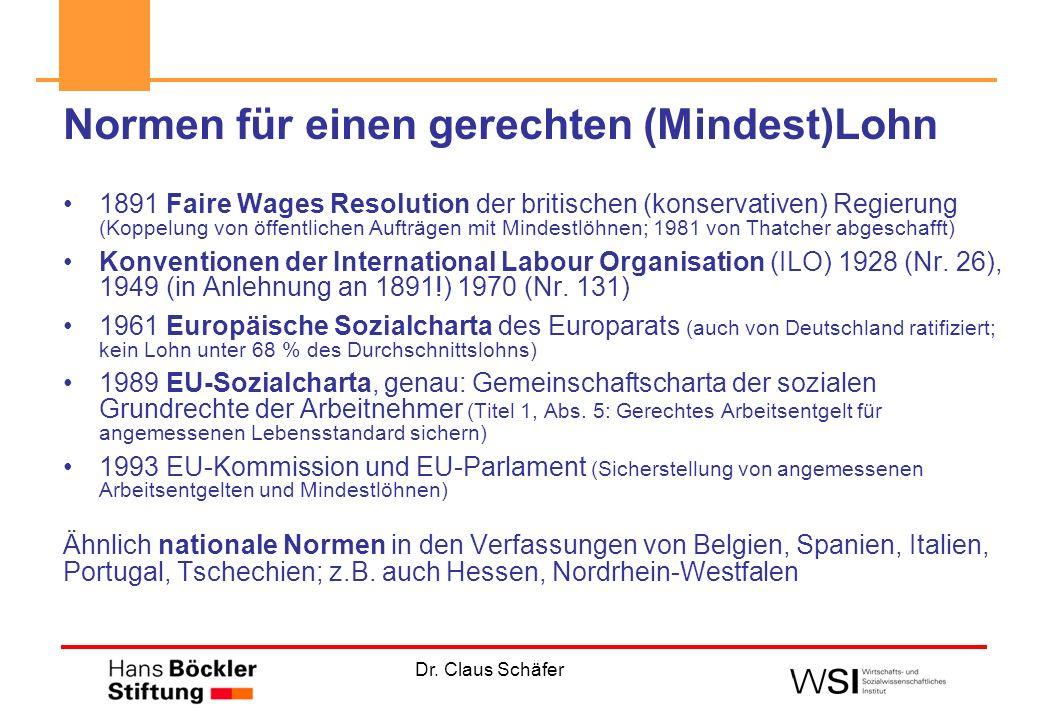 Dr.Claus Schäfer Wie regeln unsere EU-Nachbarn Niedriglöhne bzw.
