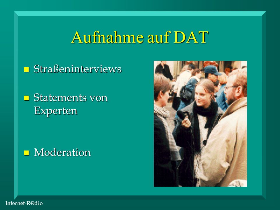Internet-R@dio Digitaler Schnitt