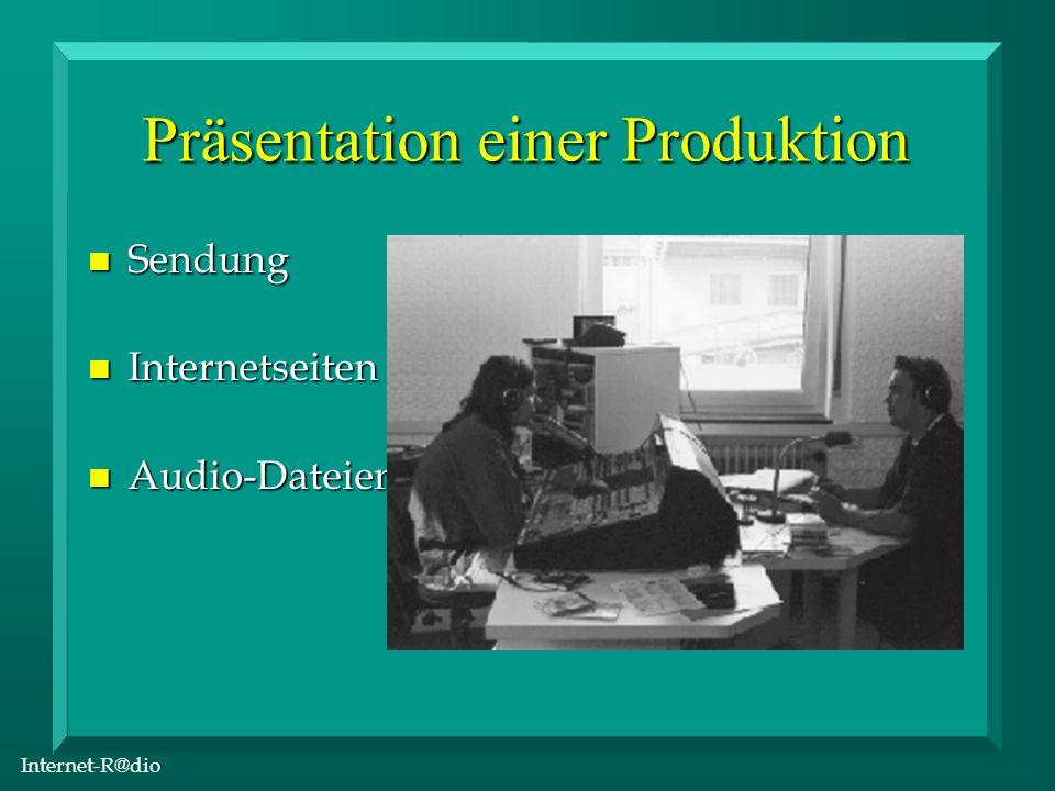 Internet-R@dio Audio-Kompression n Real Audio n MPEG Layer 3