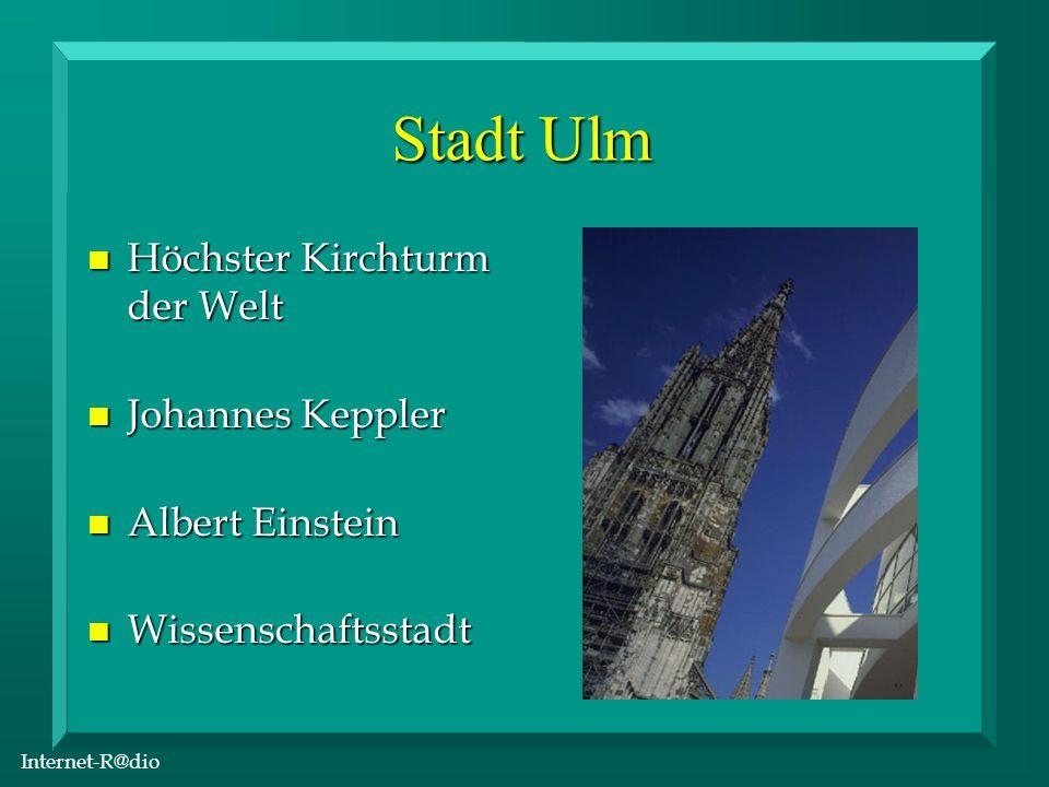 Internet-R@dio Valckenburgschule Ulm n Profile für die Zukunft n Chemie und Ernährung n Gesundheit und Pflege n Landwirtschaft n Sozialmanagement