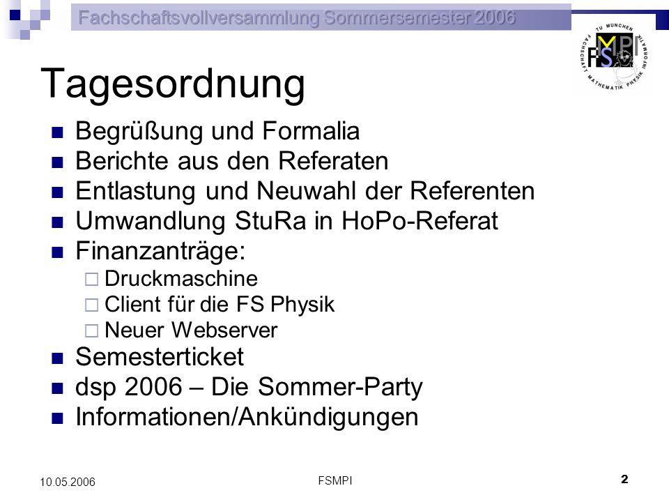 FSMPI 3 10.05.2006 Berichte aus den Referaten Ihr konntet die Berichte im impulsiv nachlesen Falls ihr noch Fragen zu Berichten an die Referate habt, meldet euch bitte jetzt oder schreibt eine E-Mail an das entsprechende Referat Fachbereichsrat Mathematik gesucht