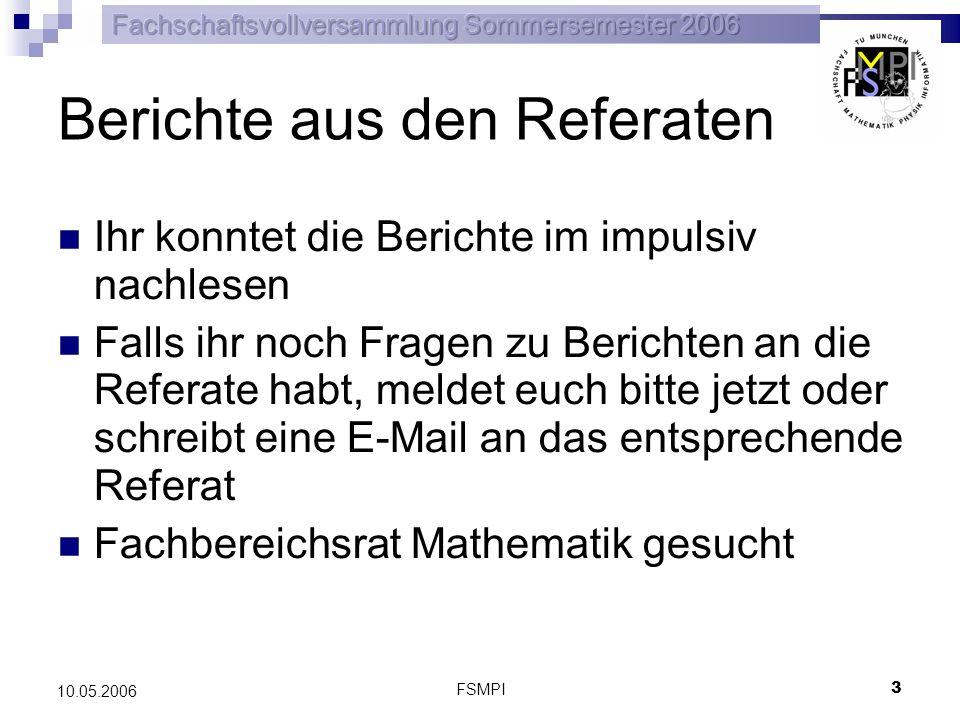 FSMPI 4 10.05.2006 Umwandlung des StuRa-Ref.