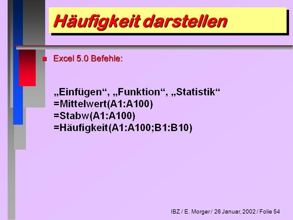 IBZ / E.Morger / 26 Januar, 2002 / Folie 55 Lektion 10 1.