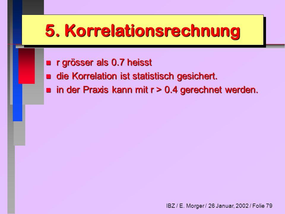 IBZ / E.Morger / 26 Januar, 2002 / Folie 80 Lektion 11 1.